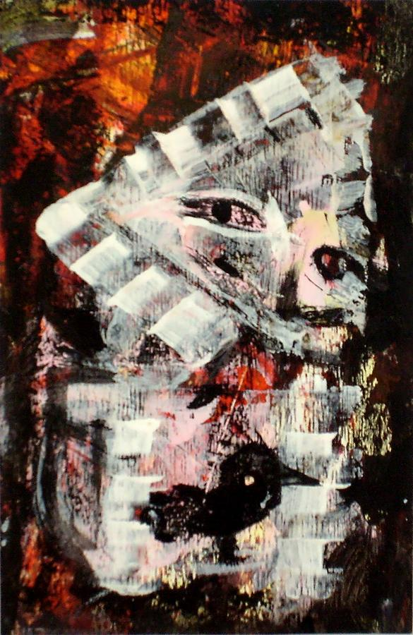 Abstract Painting Story Night Feelings Nostalgia Modern Art Painting - story of night I. by Paul Pulszartti