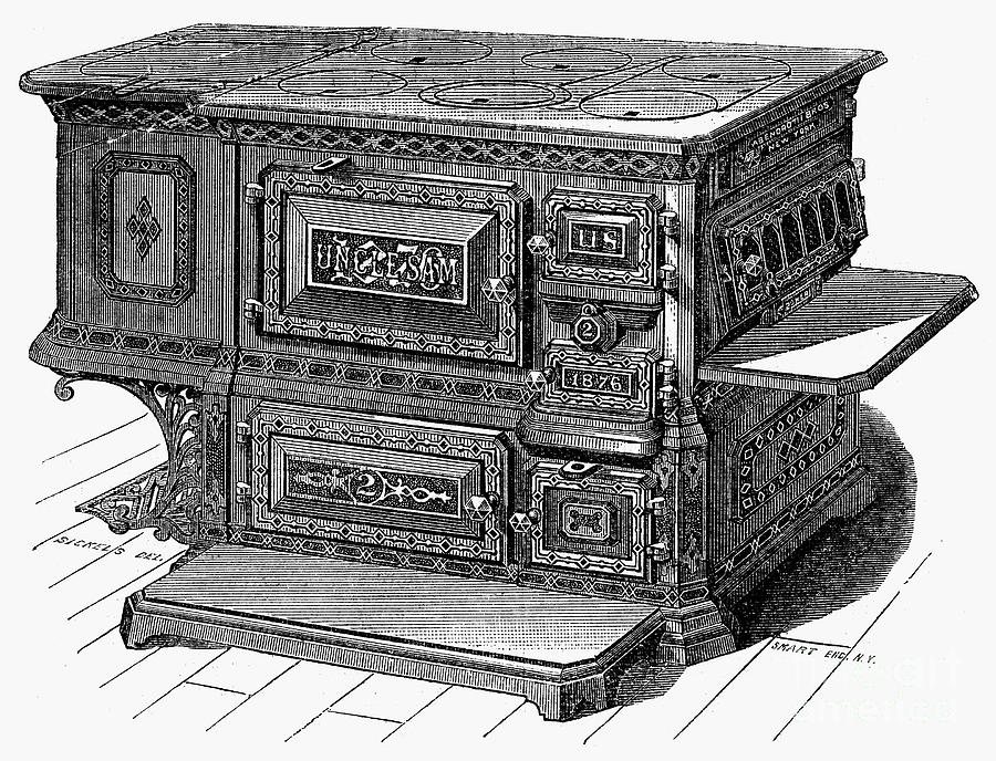 1876 Photograph - Stove, 1876 by Granger