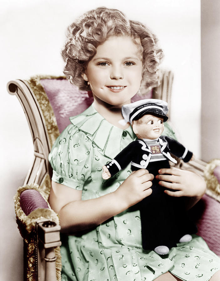 1930s Movies Photograph - Stowaway, Shirley Temple, 1936 by Everett