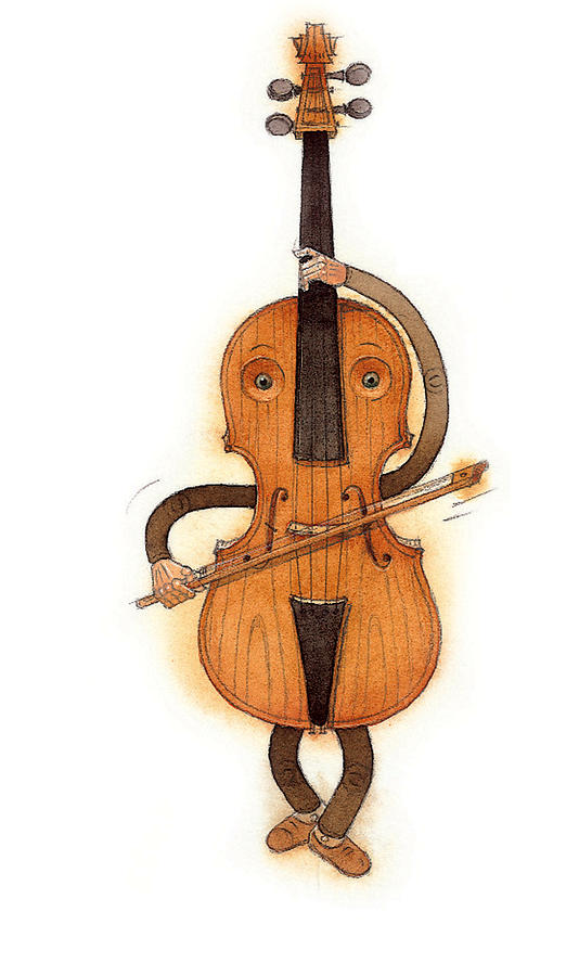 Stradivarius Violin Painting