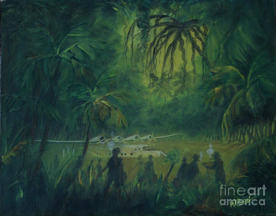 Jungle Painting - Strangers In Paradise by William Bezik