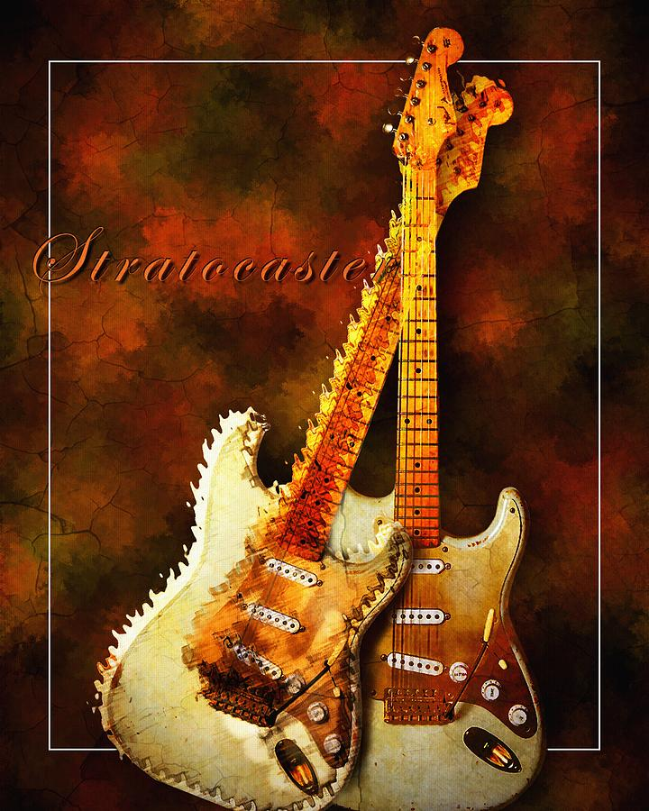 Stratocaster Mixed Media  - Stratocaster Fine Art Print