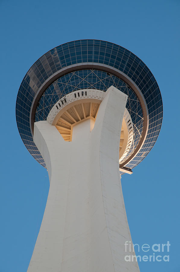 Stratosphere Tower Up Close Photograph