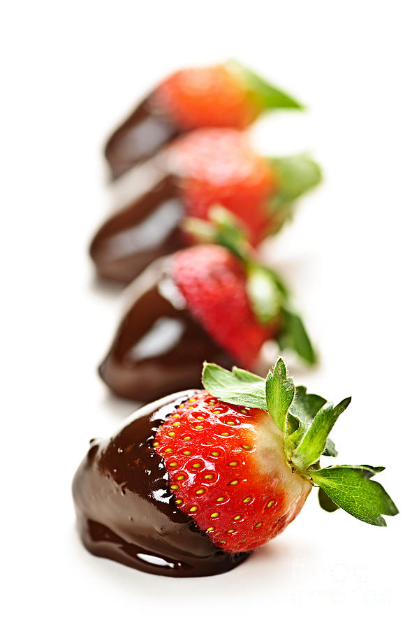 Strawberries Dipped In Chocolate Photograph