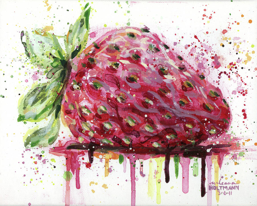 Strawberry 1 Painting  - Strawberry 1 Fine Art Print
