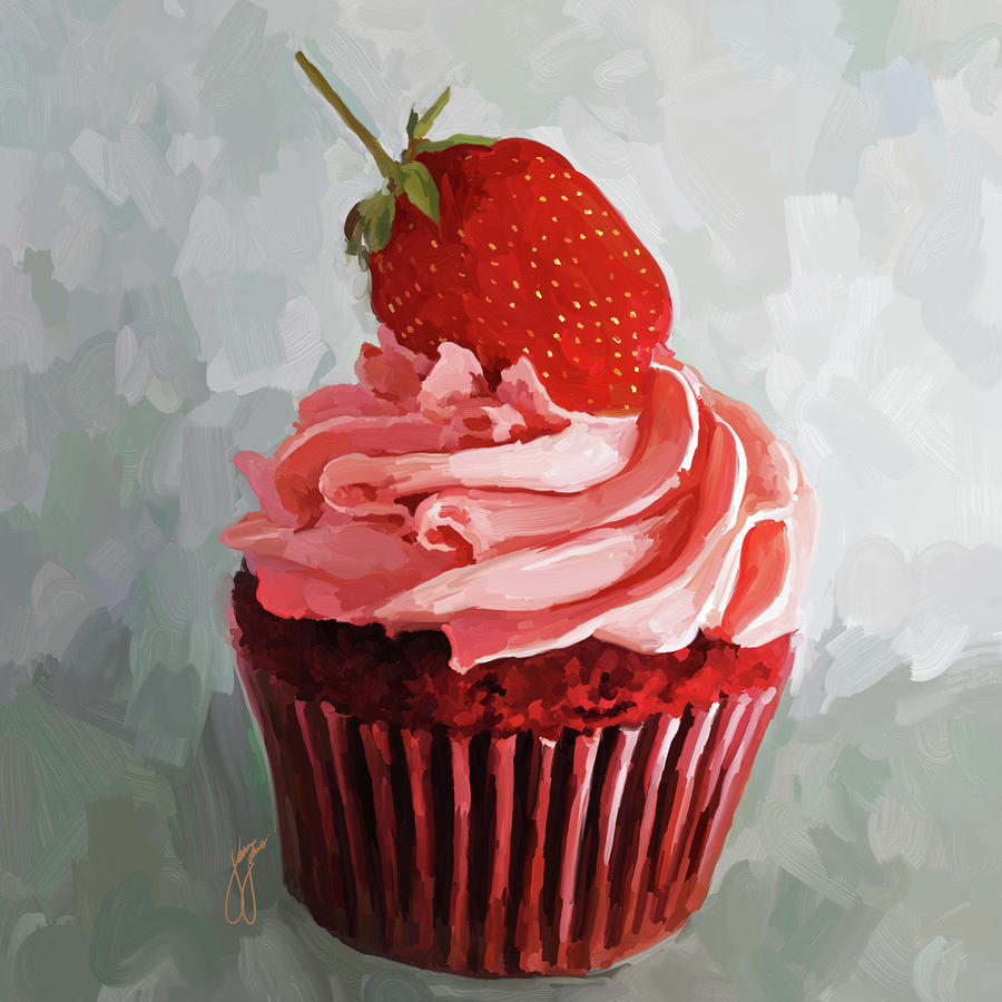 Strawberry Cupcake by Jai Johnson