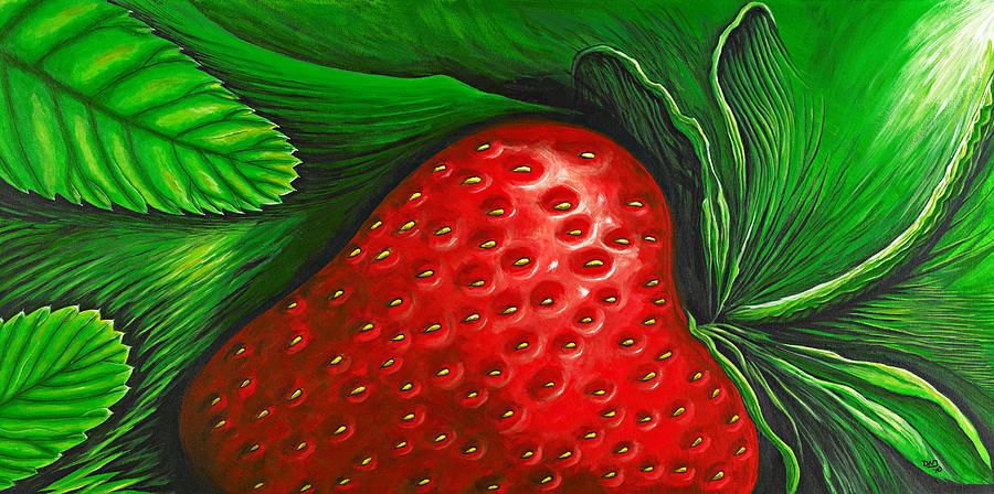 Strawberry Painting  - Strawberry Fine Art Print