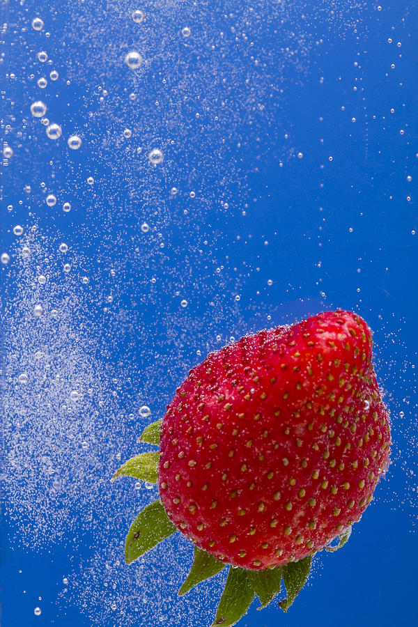 Strawberry Soda Dunk 4 Photograph  - Strawberry Soda Dunk 4 Fine Art Print