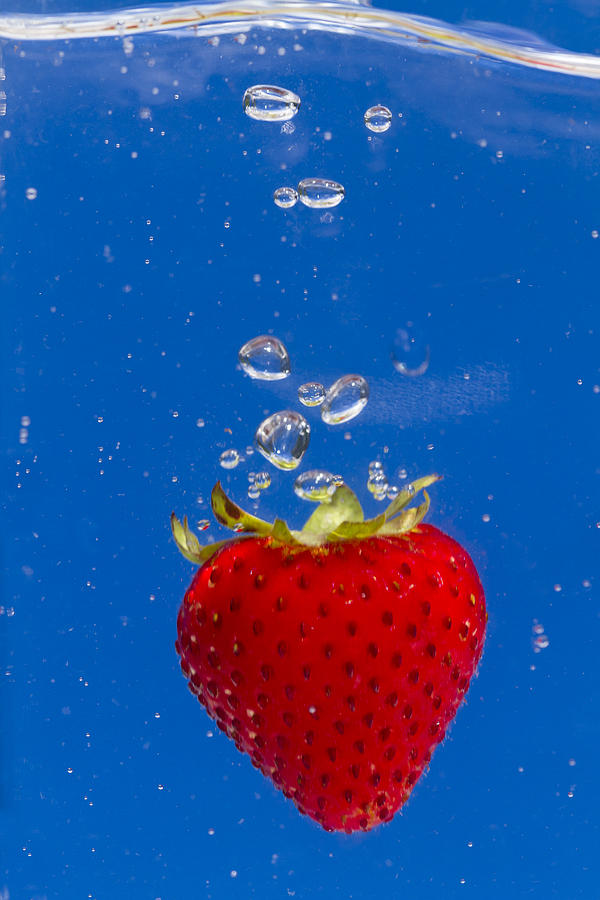 Strawberry Soda Dunk 6 Photograph  - Strawberry Soda Dunk 6 Fine Art Print