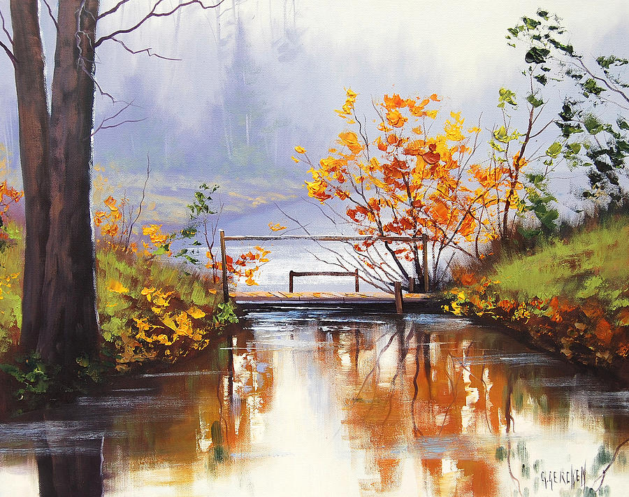 Stream Crossing Painting