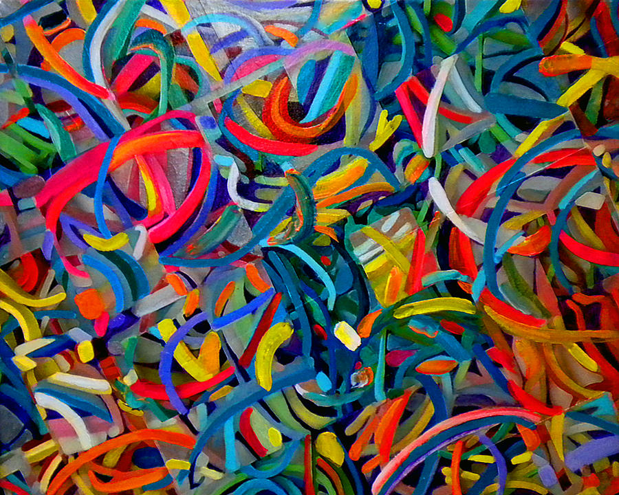 Streamers Of Joy Painting