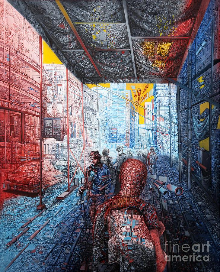 Urban Painting - Street 2 by Bekim Mehovic