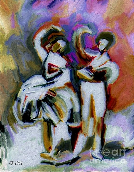 Street Dancers Painting  - Street Dancers Fine Art Print