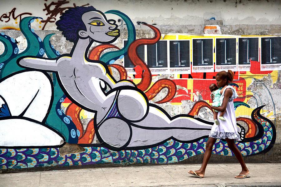 Rio De Janeiro Photograph - Street Life Rio De Janeiro by Joe Rondone