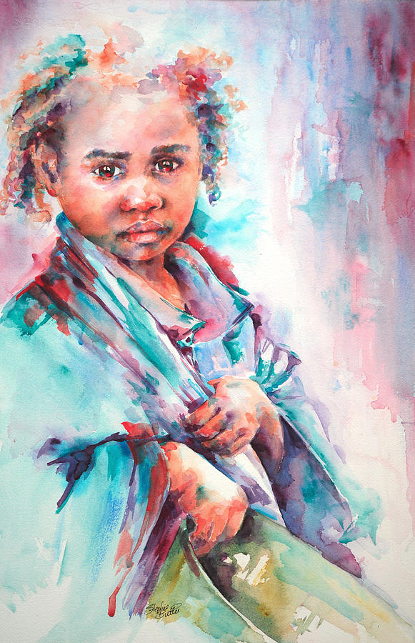 Portrait Painting - Street Life by Stephie Butler