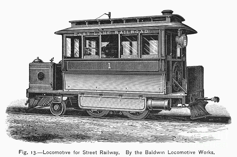 Street Locomotive, C1870 Photograph  - Street Locomotive, C1870 Fine Art Print
