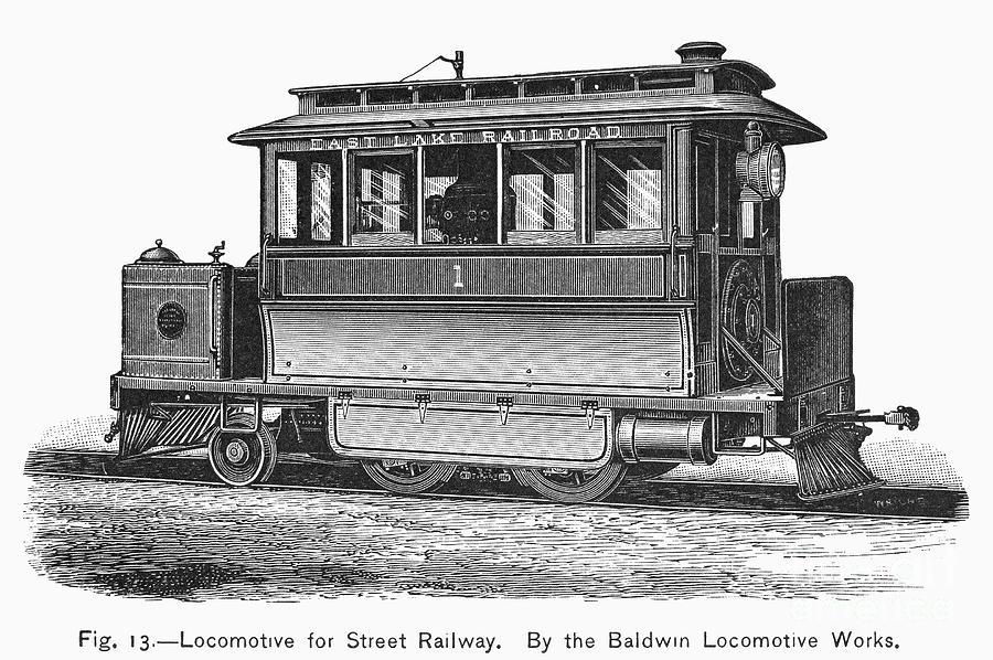 Street Locomotive, C1870 Photograph