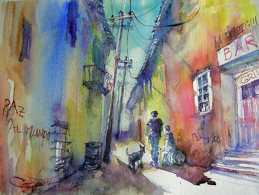 Street Of La Havanna  Painting