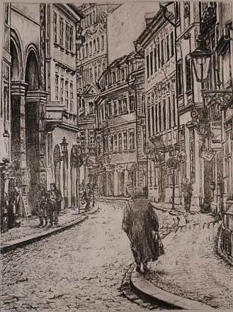 Street Of Prague Drawing