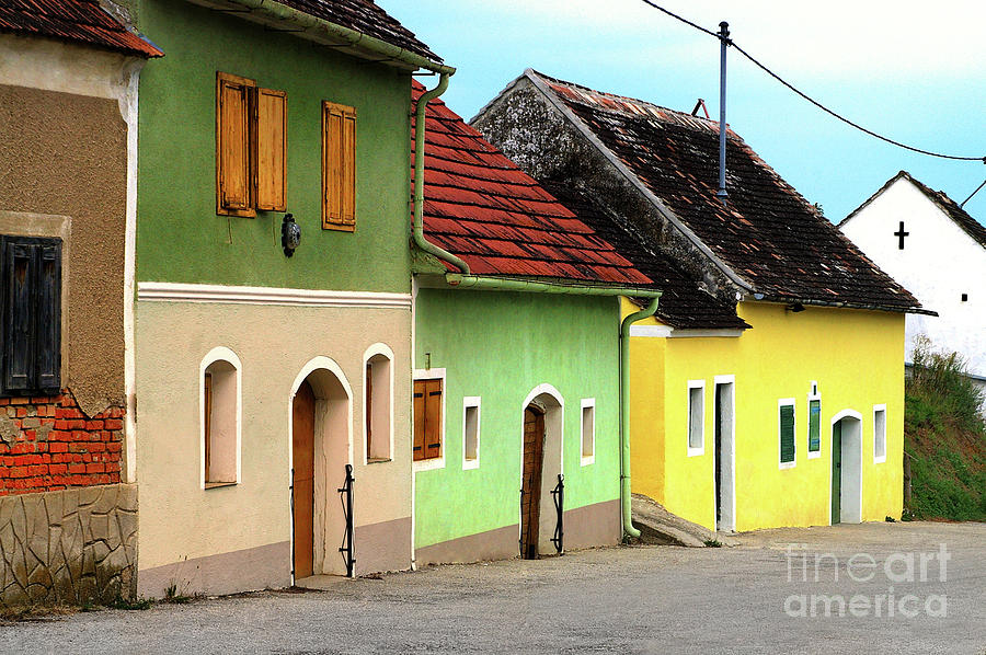 Street Of Wine Cellar Houses  Photograph  - Street Of Wine Cellar Houses  Fine Art Print