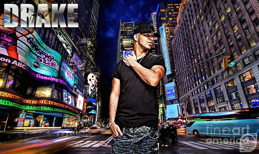 Drake Digital Art - Street Phenomenon Drake by The DigArtisT