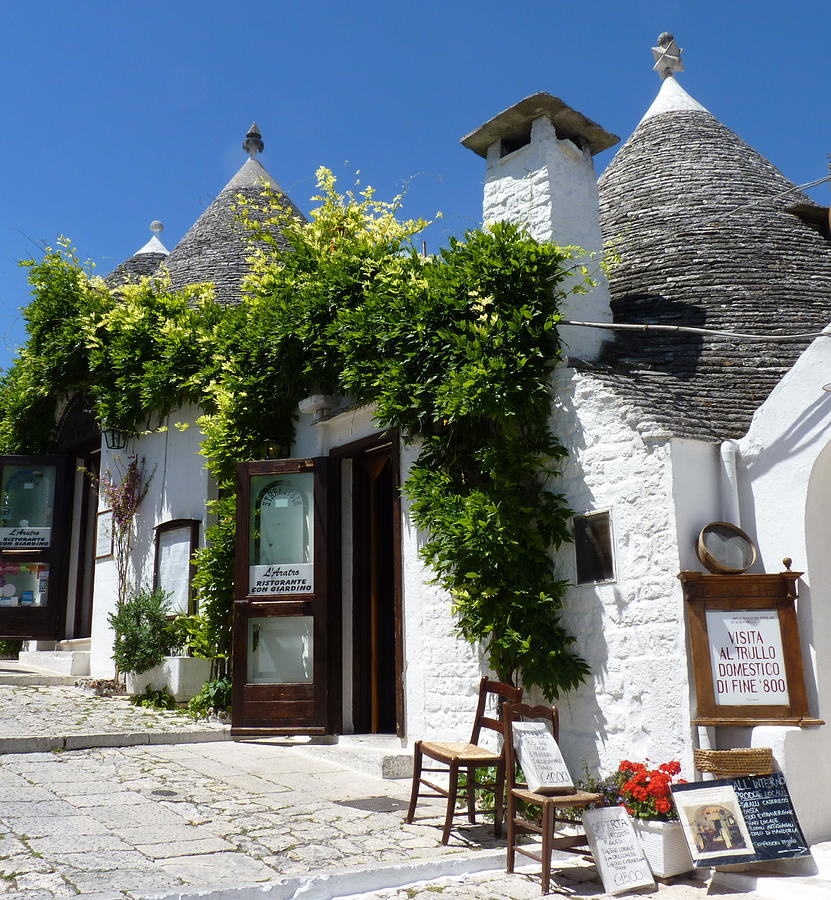 Street Scene In Alberobello Photograph
