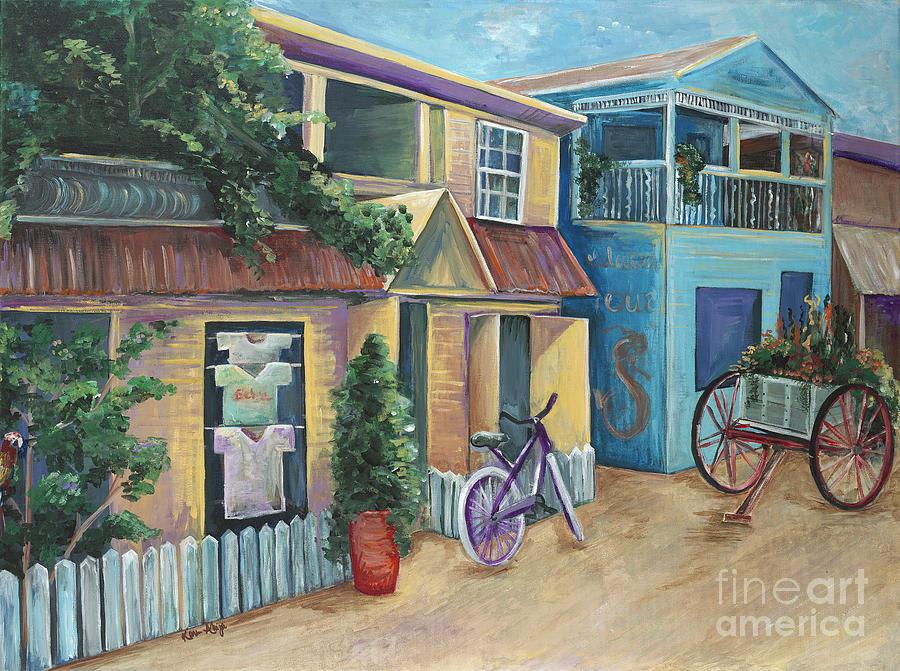 Street Scene In Belize Painting