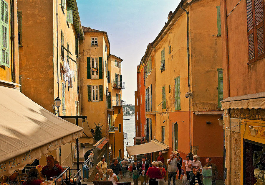 Street Scene In Villefranche Photograph