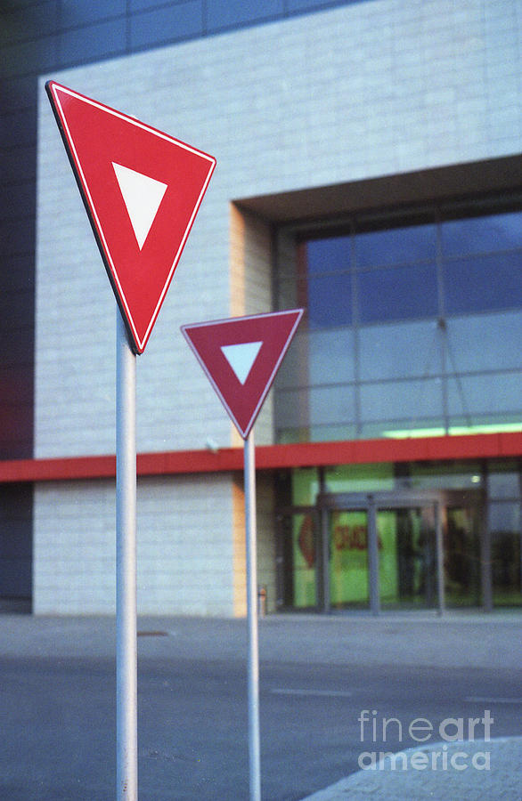Photography Modern City Street Sign Color Photograph - Street Signs by Cosmin Munteanu