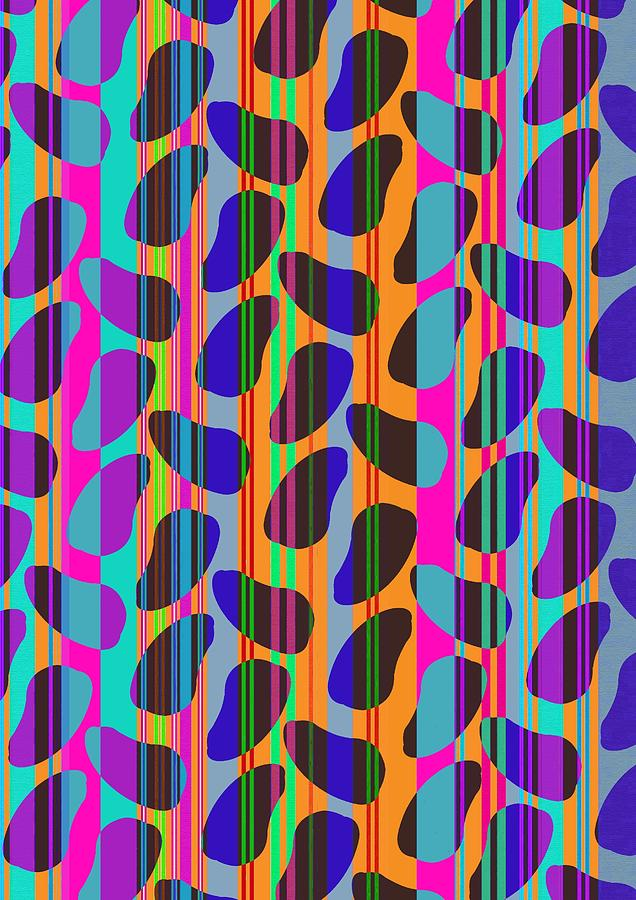 Stripe Beans Digital Art