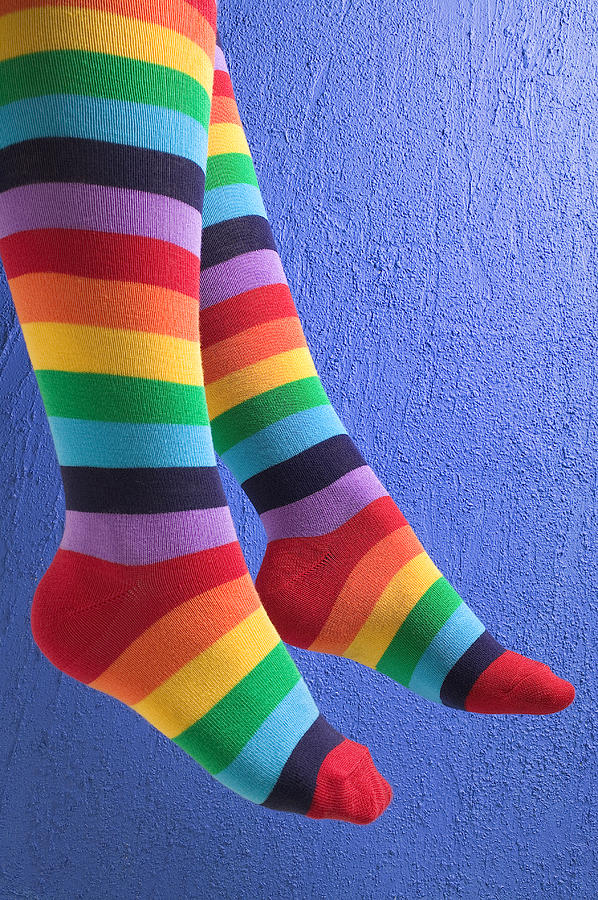 Striped Socks Photograph  - Striped Socks Fine Art Print