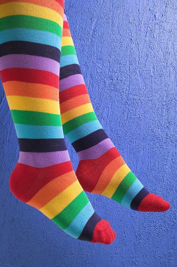 Striped Socks Photograph