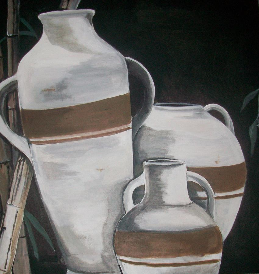 Striped Water Jars Painting