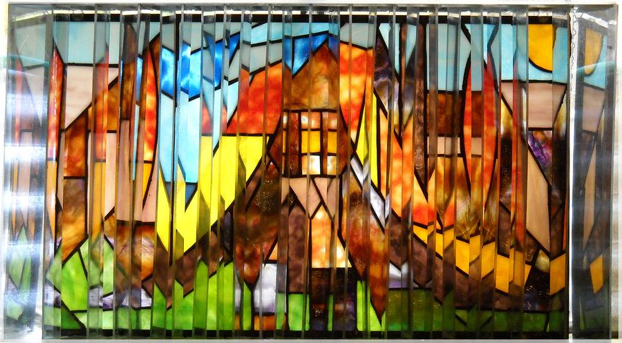 Stroll Thru A Virtual City Glass Art