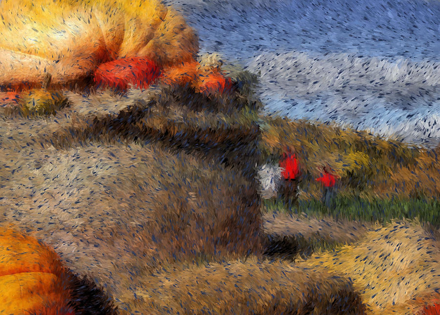 Strolling Through Autumn Digital Art