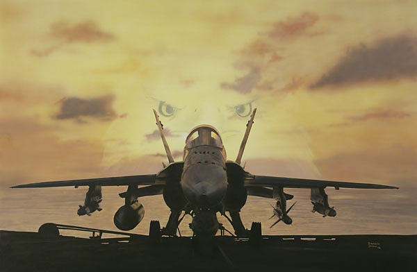 F-18 Super Hornet Painting - Strong Arm Of Freedom by Darryl Strader