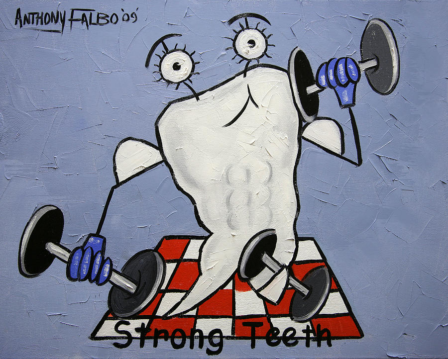 Strong Teeth Painting  - Strong Teeth Fine Art Print