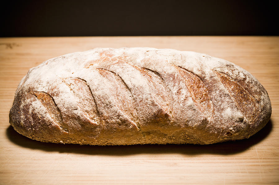 Studio Shot Of Loaf Of Bread Photograph