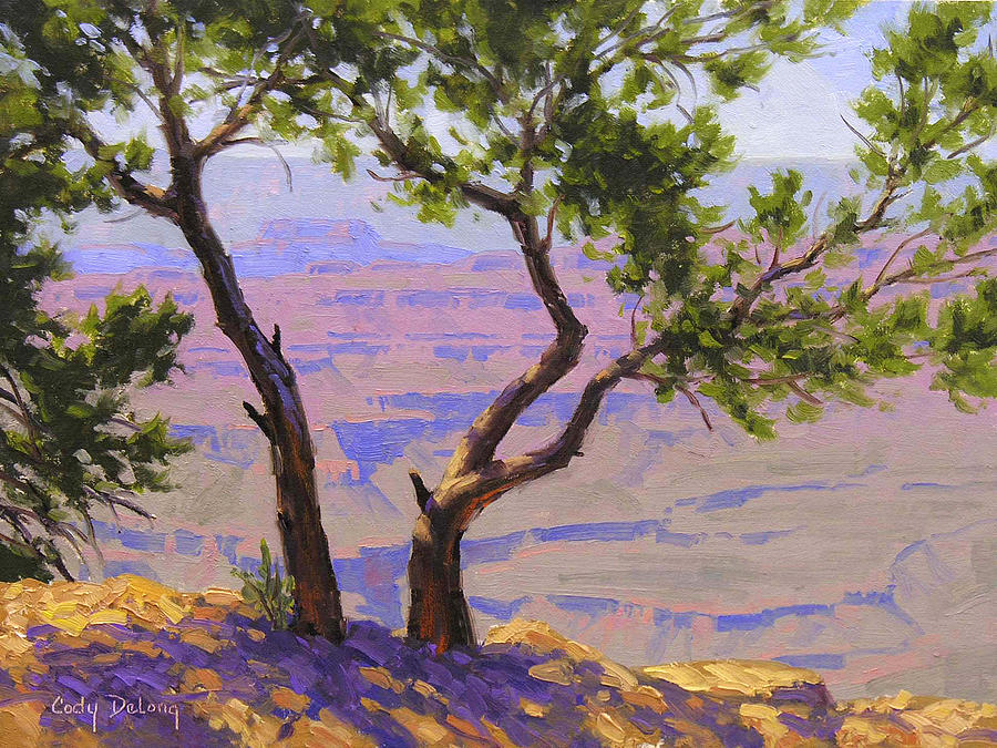 Study For Canyon Portal Painting  - Study For Canyon Portal Fine Art Print