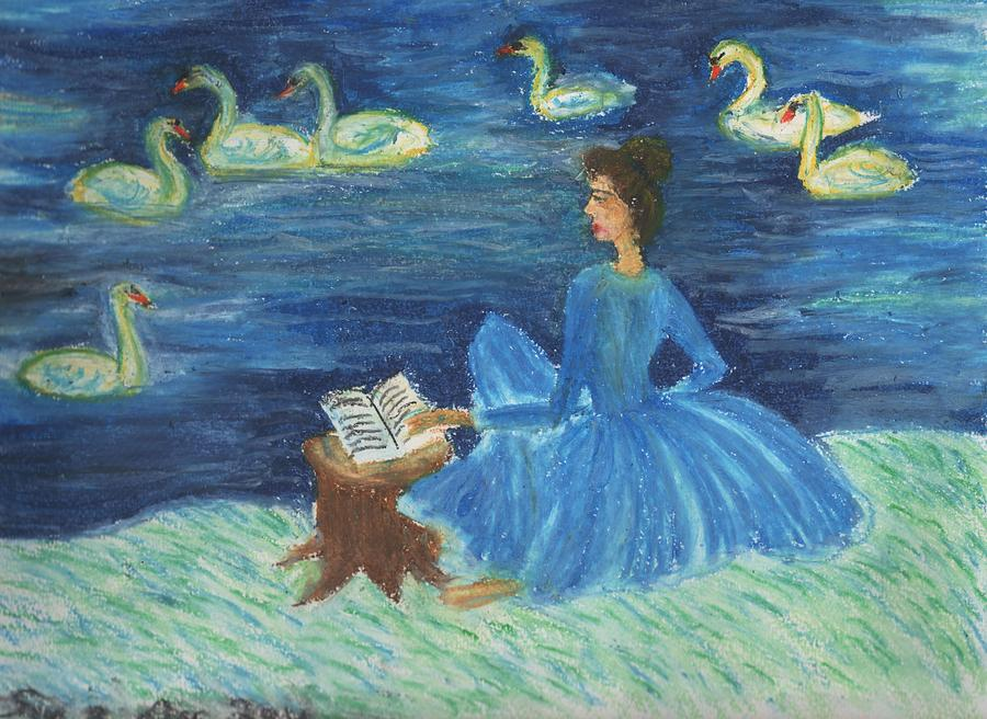 Study For Swan Lake Reader Drawing