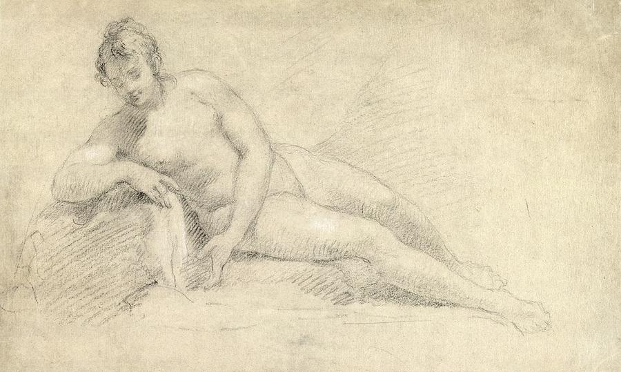 Study Of A Female Nude  Drawing