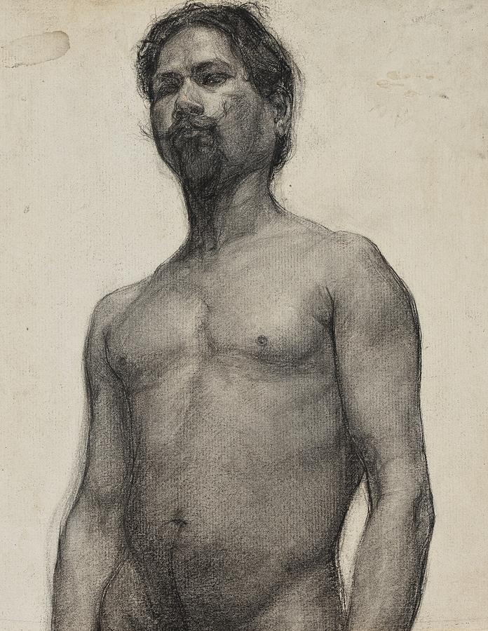 Study Drawing - Study Of A Negro Man by Henry Ossawa Tanner