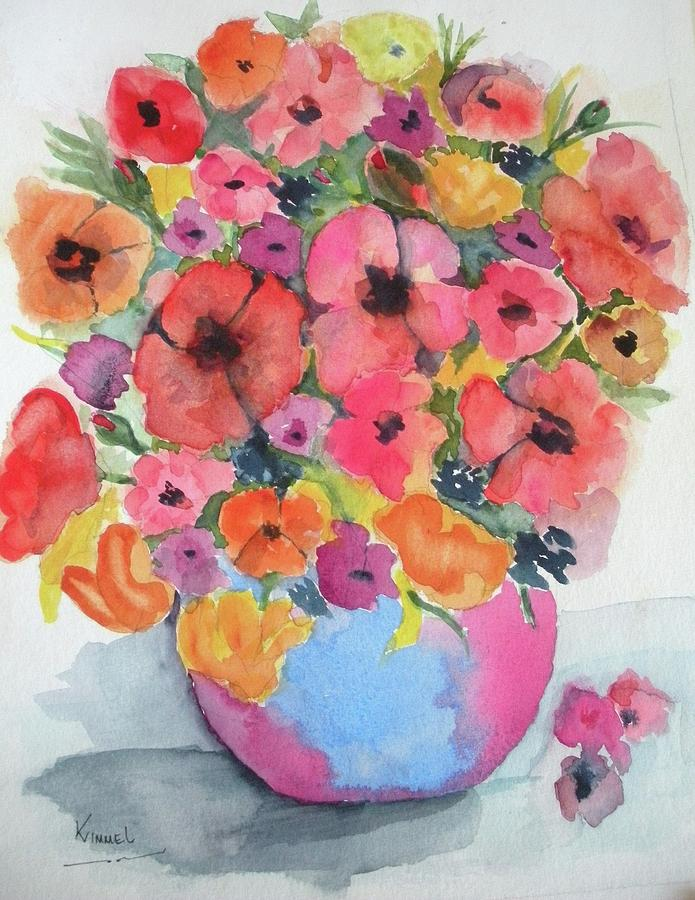 Stunning Flower Arrangement Painting  - Stunning Flower Arrangement Fine Art Print