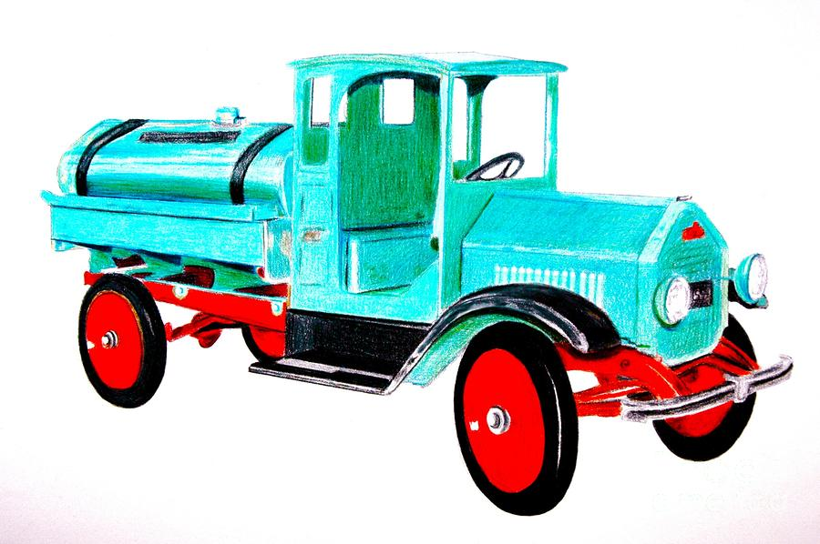 Sturdi Sprinkler Truck Drawing