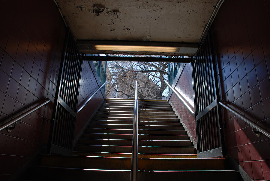 Subway Stairs To Freedom Photograph