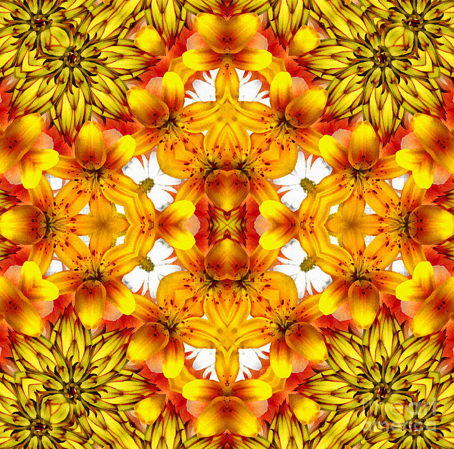 Sudden Heat Mandala Mixed Media  - Sudden Heat Mandala Fine Art Print