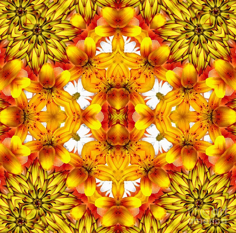 Sudden Heat Mandala Mixed Media