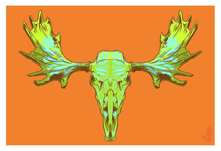 Gypsy Digital Art - Sugar Moose by Nelson Dedos Garcia