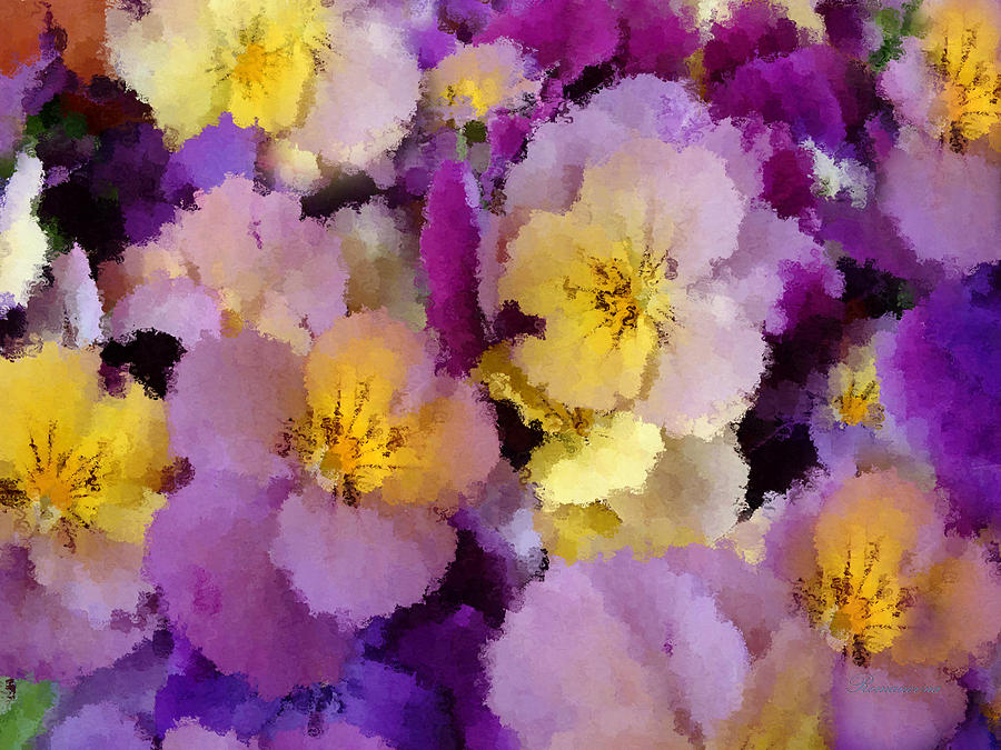 Sugared Pansies Painting  - Sugared Pansies Fine Art Print