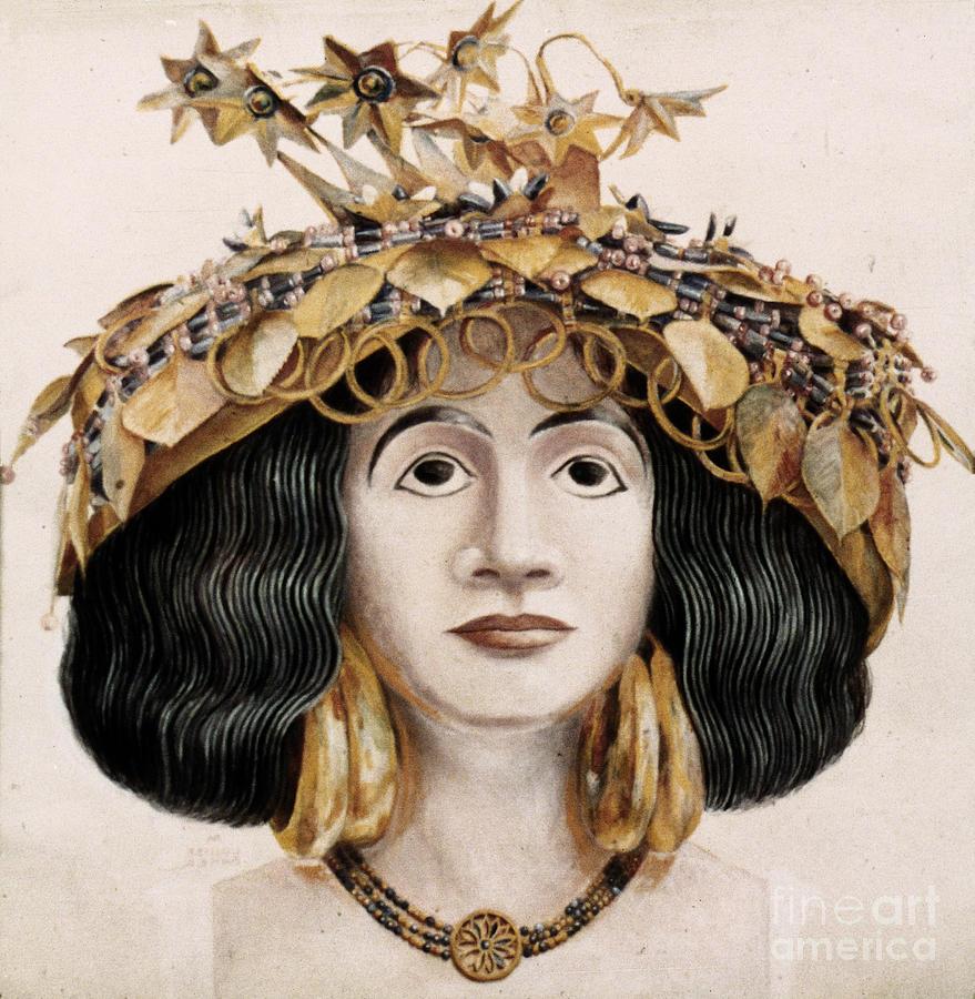 Assyrian dress painting | asirci i vavilonci | Pinterest ...
